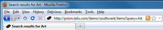 The RSS icon in Firefox
