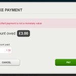Payment invalid chars
