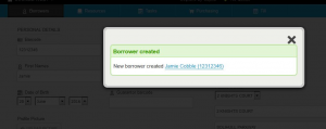 Create Borrower link to new Borrower